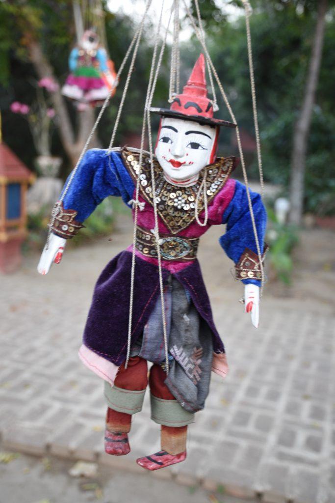 Spectacle de marionnette au Myanmar