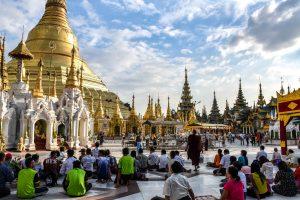 Yangon en famille Shwedagon