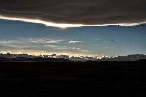 Ciel sur les montagnes de Nouvelle-Zélande